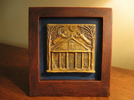 House Blessing with Guardian Angels, Handmade Desktop Wooden Sculpture