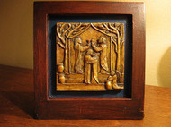 Wedding at Cana, Handmade Desktop Wooden Sculpture