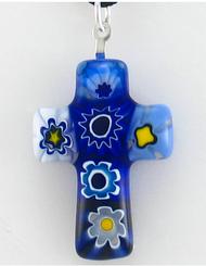 Cross of Faith Pendant - Italian Glass Cross Pendant