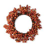 20 Inch Orange Berry Wreath
