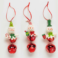 Assorted Snowman Head on Bells