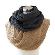 Assorted Basketweave Knit Infinity Scarves