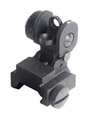 AT® AR-15 Flip Up Rear Sight - Black