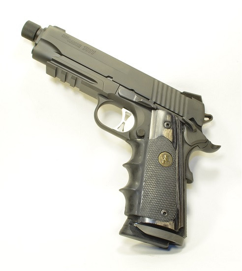 Pachmayr® American Legend Laminate Grip - Colt 1911 - Charcoal Silvertone