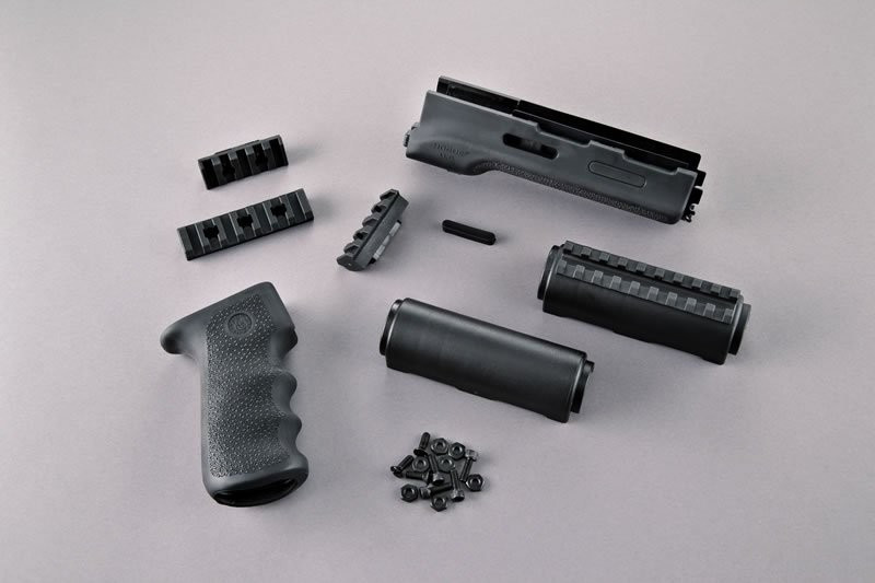 Hogue® AK-47/AK-74 Standard Chinese and Russian - OverMolded Grip and  Forend Kit - BLACK