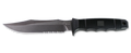 SOG® SEAL Team Satin / Clip Point / Partially Serrated - Nylon Sheath