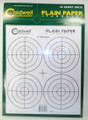 "Caldwell® Plain Paper 4"" Bullseye - 25 Sheets"