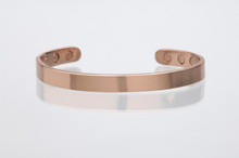 6199-PC8 Magnetic Copper Cuff 8mm with 8 magnets, 4 magnet on each side.