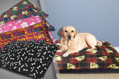 LARGE SOFT AND THICK WATERPROOF BACKED DOG BED
