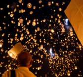 6 x MAKE A WISH LUCKY FLYING SKY LANTERNS