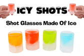 Icy Shots - 12-Piece Shot-Glass Ice Cube Mold Set