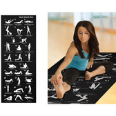 Yoga Mat with 28 Position Guide