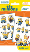 2 packs Official Minions Tattoo Pack - 20 Tattoos