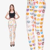 Emoji Smile Face Print Leggings