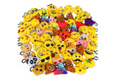 Set of 6 Emoji Plush Keyring
