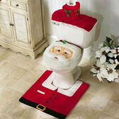 Christmas Santa Toilet Seat Cover and Mat Set