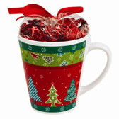 Christmas Stoneware Mugs With Candy