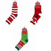 3 Pairs of Christmas Slipper Socks