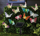 12 Solar Powered Butterfly Led Garden Light