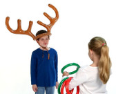 Inflatable antler ring toss game