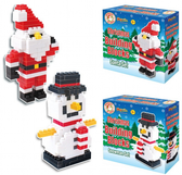 Santa or Snowman Christmas Building Blocks Set