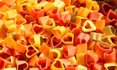 Multi Colour Heart Shaped Pasta