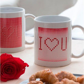 "Novelty Magic White ""I Love You"" Mug"