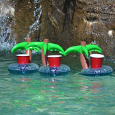Set Of 3 Inflatable Palm Tree Drink Holder