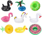 Set of 9 Beach Pool Inflatable Drink Holder