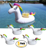 Pack of 5 Unicorn Inflatable Drink Holders