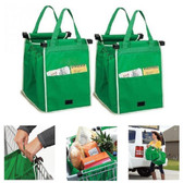 SET of 2 REUSABLE SUPERMARKET SHOPPING TROLLEY GRAB BAGS