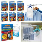 6 x Hanging Wardrobe Dehumidifier