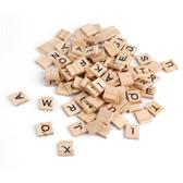 100 Pcs  Wooden Scrabble Tiles Letters