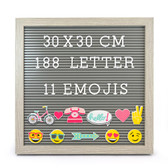 10x10 Inches Message Peg Board with 180 Letters & 11 Emojis