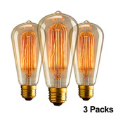 Set of 3 Vintage Style Light Bulbs