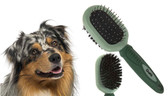 DOUBLE SIDED BRISTLE & PINS GROOMING BRUSH