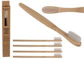 Set Of 4 Eco-Friendly Bamboo Toothbrush Set