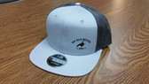 Grey logo Hat - flat bill/ mesh back/ snap closure