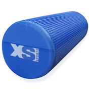TEXTURED GRID YOGA EXERCISE EVA FOAM ROLLER-TRIGGER-GYM-PILATES-PHYSIO-MASSAGE BLUE