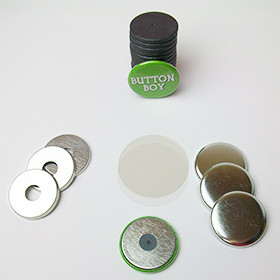 "1.25"" Magnet Flat Backs w/hole and 1-1/8"" Ceramic Magnets-500 pcs"