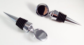 """Bottle Stopper Blanks  - Wine, Liquor and More-  for use with 1"""" or 1.25"""" Buttons – 4 pcs"""