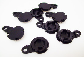 "500  Versaback Plastic Only For 1.5"" Metal Falt Backs w/Hole - No Zipper Pull - BLACK -FREE SHIPPING"