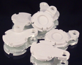 "1000  Versaback Plastic Only For 1.5"" Metal Falt Backs w/Hole - No Zipper Pull - White-FREE SHIPPING"