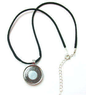 Magnetic Pendant with 18 Inch Black Suede Cord Necklace with Extension Chains -1 pcs