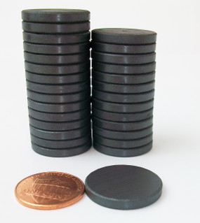 "100 JUST RIGHT FIT magnets only -ceramic magnets  13/16"" diam. x 1/8"" thick"