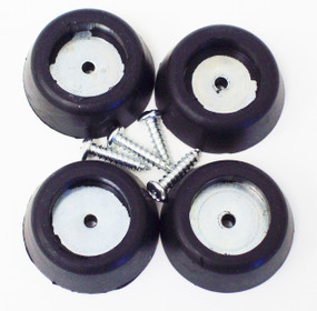 Rubber Amp - Cab Feet, Large Tapered w/ Steel Insert Washer/Screw Rubber Bumpers 16 PCS