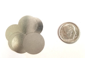 "Steel Metal Discs  0.675"" 17mm for use to make Magnetic Pendants - 100 discs"
