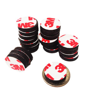 "3/4"" Inch Round Rubber Peel & Stick Magnets ONLY  100PCS"