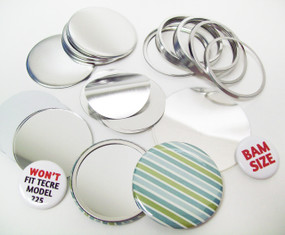 "BAM Size 2-3/8"" (2-1/4"") Mirror Parts for Button Making Machines - 250 pcs"