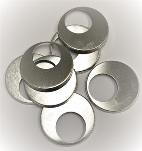 """1.5"""" Tecre METAL FLAT BACKS with the hole ONLY - 1000-FREE SHIPPING"""